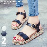 商品名:ジュート編みソールストラップサンダル Esparto sole strappy sandal...