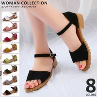 商品名:コンフォートフラットストラップサンダル/Comfort flat strap sandals...