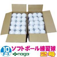 超特価 ソフトボール2号練習球 (スリケン・検定落ち・ナイガイ製) 10ダース (120球入り) Training-soft2-120|web-sports-do
