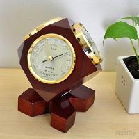 5380円(税込)以上で送料無料!  【商品概要】  六面体の3つの面に気圧計・温度計・湿度計をはめ...