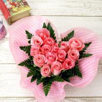 バラ 薔薇  人気NO1!ピンクバラのハート型アレンジメント♪誕生日 花  【商品内容】ピンクバラ・...