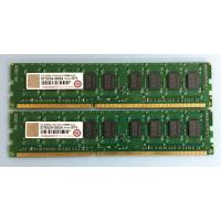 2GBメモリ 2枚セット 合計4GB 2G DDR3 1333 ECC DIMM CL9 Transcend サーバー用パーツ 中古メモリ