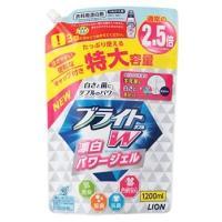 ライオン ブライトW つめかえ用 特大 (1200mL) 詰め替え用 液体 衣類用酸素系漂白剤 JA...