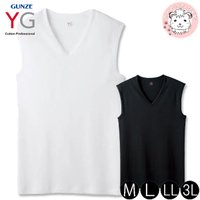 『YG』Vネックスリーブレスシャツです。ふんわりここちよい。絶妙の包み込むフィット感。触ってわかるソ...