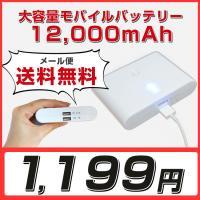 モバイルバッテリー仕様 ・バッテリー:リチウムポリマー電池 ・バッテリー容量:12,000mAh ・...