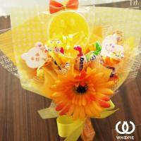 笑顔いっぱい!食べられるお菓子の花束ハッピースマイルキャンディブーケ・イエロー