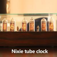 TVで紹介され話題のニキシー管時計! 好きな人にはたまらない、真空管型のニキシー管を使用。 落ち着い...