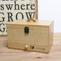 裁縫箱 ソーイングボックス 針仕事 お道具箱 ツールボックス 小物入れ 収納ボックス お片付け 木製...