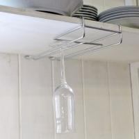 ワイングラスホルダー ワイングラスハンガー ワイヤーグラスラック ワイングラス収納 戸棚下収納 グラ...