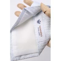 フェアファクス FAIRFAX 英国 バーナーズ社生地 アイスホワイト 織柄無地 フォーマル用 ネクタイ