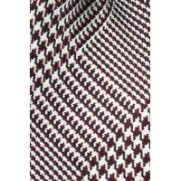 (ウィンザーノット アルバートアベニュー) Windsorknot Albert Avenue グレンチェックのネクタイ レッド×パールホワイト シルク100% ジャカードタイ 日本製