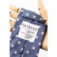 (フェアファクス) FAIRFAX メランジの小紋柄ネクタイ ブルー系 シルク100% イタリー生地使用 ジャカードタイ 日本製