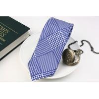 (ジョンコンフォート) JOHN COMFORT 50オンスのグレンチェックのプリントタイ ブルー系 シルク100% ネクタイ 日本製
