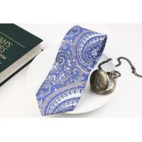 (ジョンコンフォート) JOHN COMFORT 50オンス 総柄ペイズリープリントのネクタイ ブルー系 シルク100% 日本製