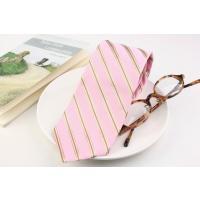 (フェアファクス) FAIRFAX レジメンタルストライプのネクタイ ピンク系 シルク100% イタリー生地使用 日本製