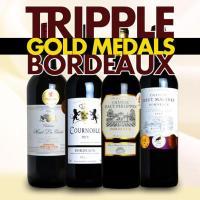 全てボルドー三冠トリプルゴールドメダル受賞ワインの赤ワイン4本セット!国際コンクールを含むプロの厳し...