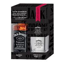 ジャックダニエルの150周年記念ロゴ入りロックグラスセット!世界で最も有名なテネシーウイスキー!18...