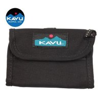 KAVU カブー ワリーワレットはマジックテープで開閉可能なコットンキャンバス素材のコンパクトな財布...