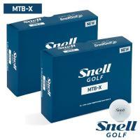 ゴルフボール スネルゴルフ SNELL GOLF MTB-X ホワイト 2ダース 24球