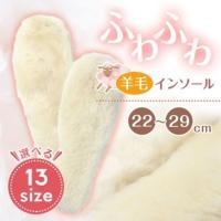 【訳あり 処分】あったか ウールインソール 羊毛 防寒 靴の中敷き ムートン ブーツイン ボア 送料無料