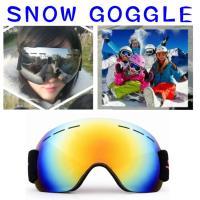 スノー ゴーグル スキー スノボー   軽量 スポーツゴーグル  球面形状レンズ採用で 顔にフィット...