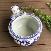 ◆サイズ φ26cm×18×H15cm ◆材質     陶器  ◆備考       火鉢 陶器鉢 水...