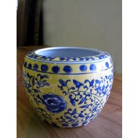 ◆サイズ φ21cm (内径15cm)×H15cm ◆材質     陶器  ◆備考     染め付け...
