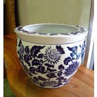 ◆サイズ φ41cm (内径30.5cm)×H32cm ◆材質     陶器  ◆備考     染め...