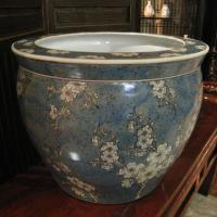◆サイズ φ40cm(内径31cm)×H31cm ◆材質  陶器  ◆備考       水鉢 睡蓮鉢...