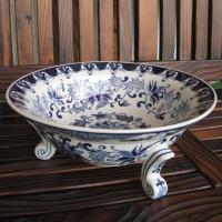 ◆サイズ φ21cm (内径15cm)×H20cm ◆材質     陶器  ◆備考     染め付け...