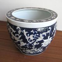 ◆サイズ φ30cm (内径22cm)×H23cm ◆材質     陶器  ◆備考     染め付け...