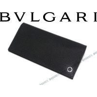 ■ブランド名  BVLGARI ■品名  282233 2つ折り長財布 型押しレザー ブラック ■対...