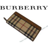 ■ブランド名  BURBERRY ■品名  3935561 2つ折り長財布 ベージュチェック柄×ブラ...