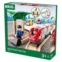 ブリオ BRIO レール&ロードトラベルセット  汽車レールセット 木製 33209
