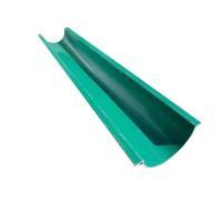FRP製 カラー:緑 半丸 横リブ付  長さ2m  ※こちらの商品は、4mの商品をカットしたものにな...