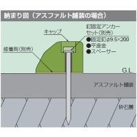 【セット内容】 ・固定釘 φ9.5×200:2本 ・スペーサー:2本 ・平座金:2個  ※タイヤ止め...