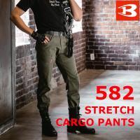 裾上げ無料 バートル 即日出荷 新商品 ストレッチカーゴパンツ 582 メンズ 男性用 作業服 作業ズボン チノ