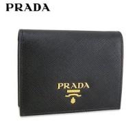 プラダ/PRADA/折り財布/サイフ/SAFFIANO METAL/1MV204 QWA/NERO/...