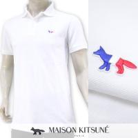 完売御礼/メゾンキツネ MAISON KITSUNE メンズ ポロシャツ SS17M709/ホワイト/WH/PSS