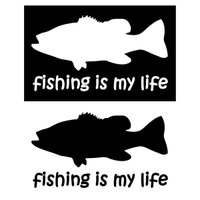 色:ホワイト/ ブラックの2色(15×9cm)   オルルド釣具より、フィッシングステッカーが登場で...