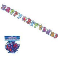 """お誕生会の飾り付けに使える""""HAPPY BIRTHDAY""""ロゴ入り紙製バナー♪ バースデーパーティー..."""
