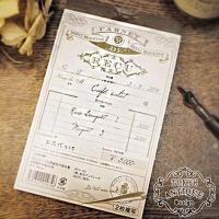 海外の古い伝票をイメージした2枚複写のおしゃれでかわいい領収書♪ <br> 上質なオリジ...