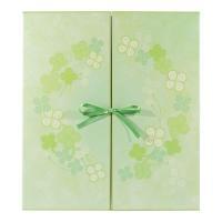ラッキーモチーフとして知られる四つ葉のクローバーをデザインした色紙です♪ かわいいリボンを結んでその...