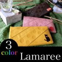 ブランド【Lamaree】 猫 長財布 レディース 人気 ネコ柄 財布さいふサイフ 革