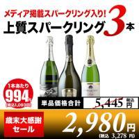 全部フランス産辛口スパークリングワイン3本セット