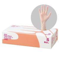 アスクルオリジナルのビニール手袋。薄手でやわらかく作業がしやすい。お掃除やおむつ交換、汚物処理の際な...