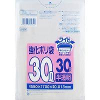 強化ポリ袋 半透明高密度タイプ ワイド30L 550X700mm 0.013mm 1パック(30枚入...