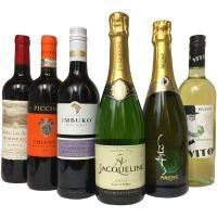 成城石井直輸入ワインの6本セットですパーティーに最適な、赤ワイン3本、白ワイン1本、スパークリングワ...