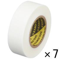 「現場のチカラ」 カモ井加工紙 マスキングテープ 白 18mm×18m 1パック(7巻入) KMT7...