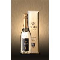「フェリスタス 金箔入りスパークリングワイン」は、ラテン語で「幸福」という名を持つスパークリングワイ...